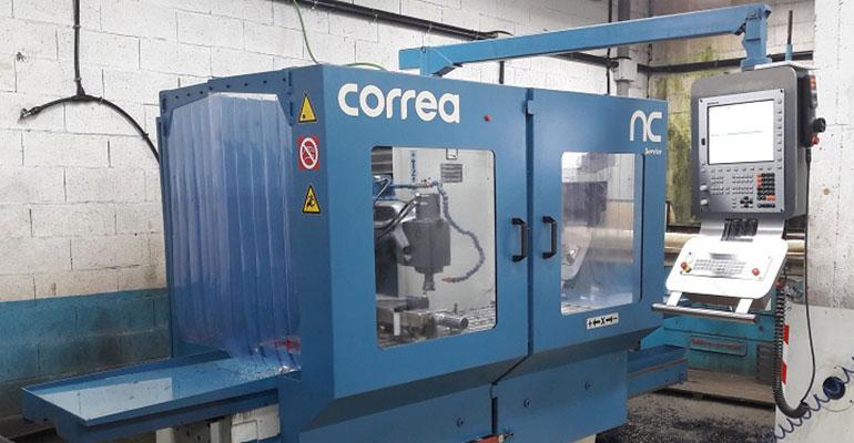 Fresadora bancada Correa A10 reconstruida por NC Service.