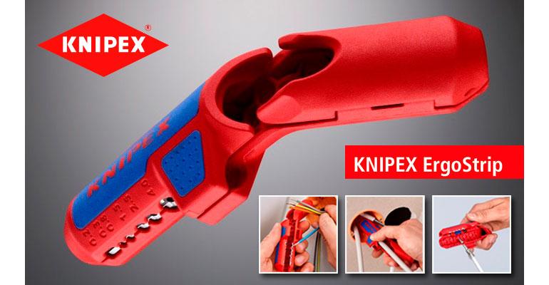 pelacables KNIPEX ErgoStrip