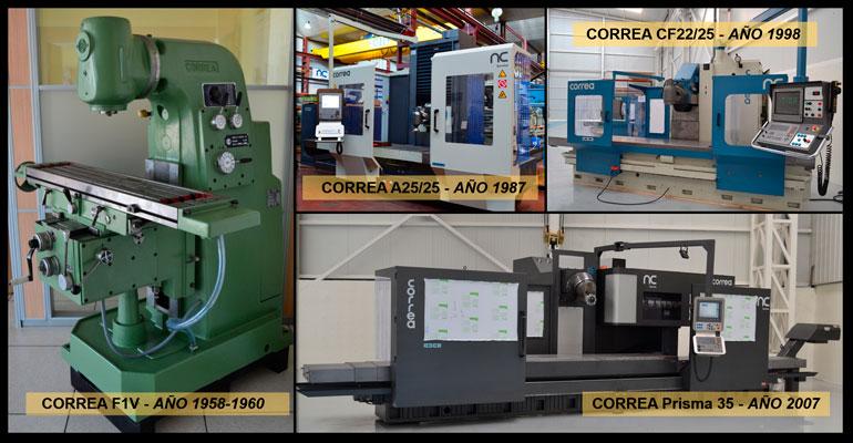 evolución de las fresadoras Correa a través de algunos modelos reconstruidos por NC Service