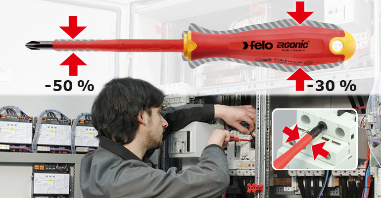 Destornilladores VDE asilados 1.000 V Felo Ergonic E-Slim