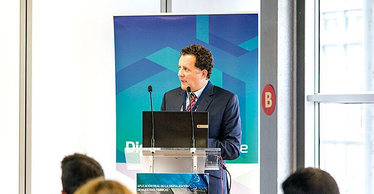 Carlos Bayona, CEO de Digital Enterprise, durante una jornada sobre digitalización