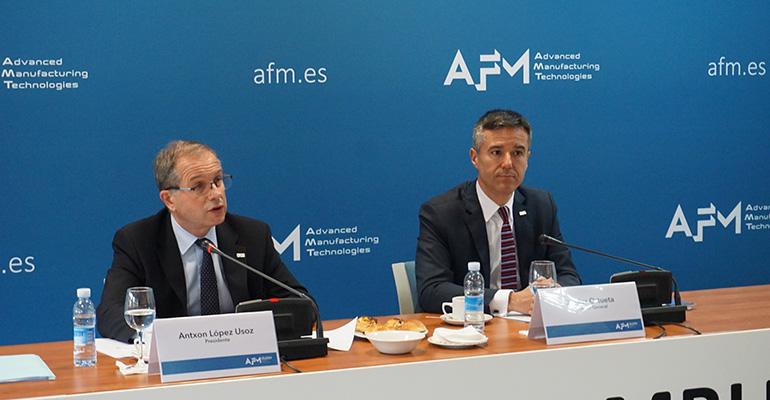 Antxon López Usoz, Presidente de AFM, y Xabier Ortueta, Director General de AFM Cluster