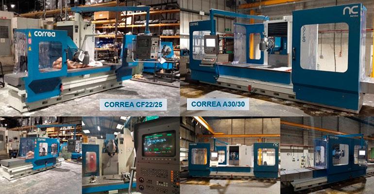 Las dos fresadoras Correa vendidas a la empresa Bartlett Engineering