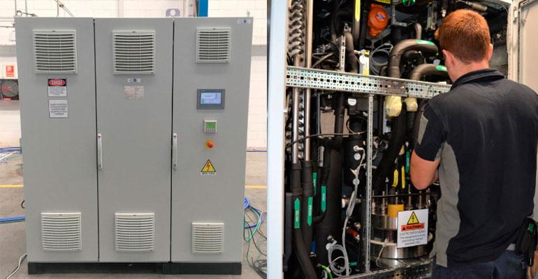 H2B2 utiliza los armarios de Rittal para poner en marcha un sistema de producción de hidrógeno