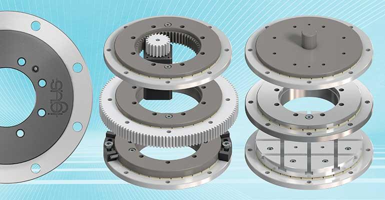Rotación compacta: Igus amplía su gama de platos giratorios de 16 mm