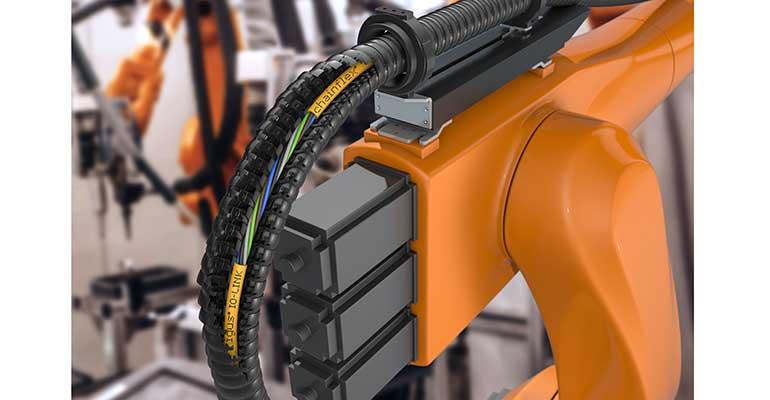Los nuevos cables chainflex IO-Link garantizan una comunicación fiable incluso sometidos a torsión