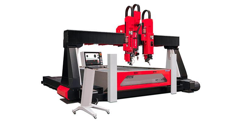 TCI Cutting BP-H COMBI, los beneficios del corte por agua y por plasma HD en una sola máquina