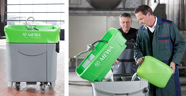 El lavapiezas ecológico MEWA Bio-Circle en servicio de alquiler aumenta la seguridad laboral y protege el medio ambiente