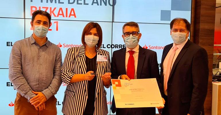 IZAR recibe el premio PYME del Año 2021 en Vizcaya