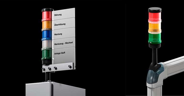 Columnas de señalización LED para una mayor seguridad