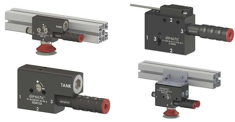 Gimatic presenta las bombas de vacío EJ-ATM y EJ-BLOWOFF con sistema integrado para romper el vacío