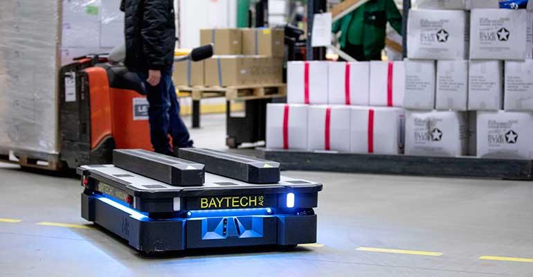 ICM Logistics optimiza su intralogística con robots móviles autónomos