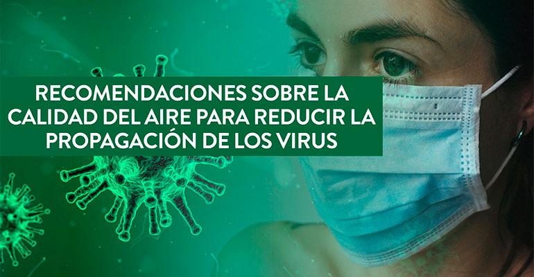 Camfil da una serie de recomendaciones sobre la calidad del aire para reducir la propagación de los virus
