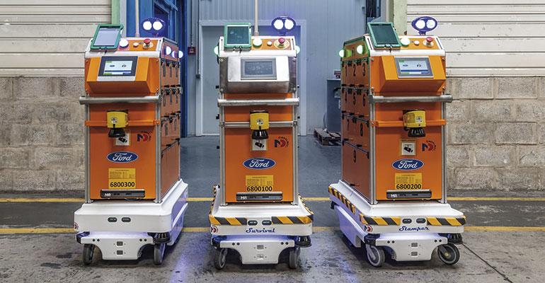 Los robots MiR ayudan a optimizar la logística en la planta de carrocería de Ford España en Almussafes