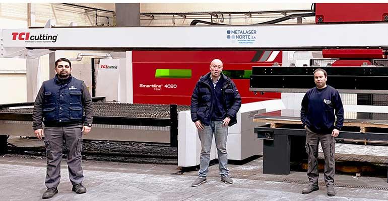 El grupo CDI-Metalaser Norte multiplica su capacidad de fabricación gracias a la solución de corte láser 2D Smartline Fiber con automatización de TCI Cutting