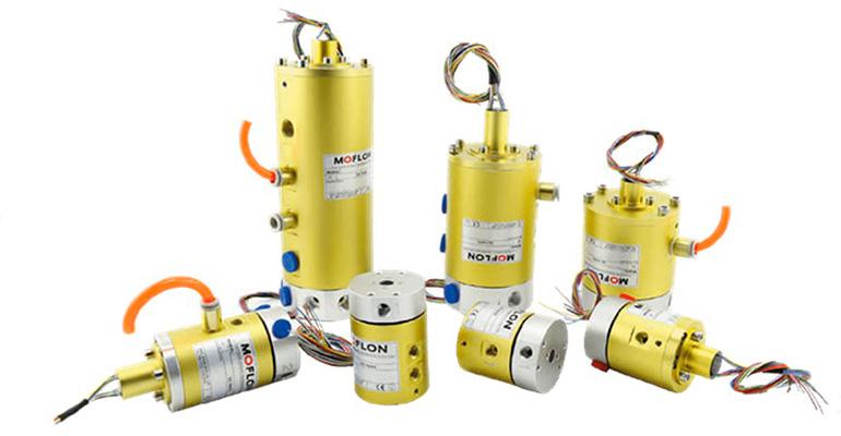Gimatic Iberia presenta las juntas rotativas de Moflon, aptas para la transmisión de fluidos, potencia, señales y comunicación