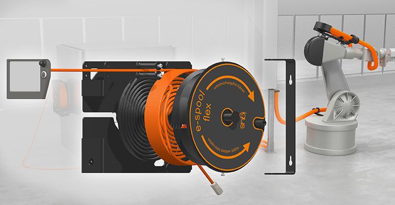 e-spool flex: guíado de cables de principio a fin sin colector