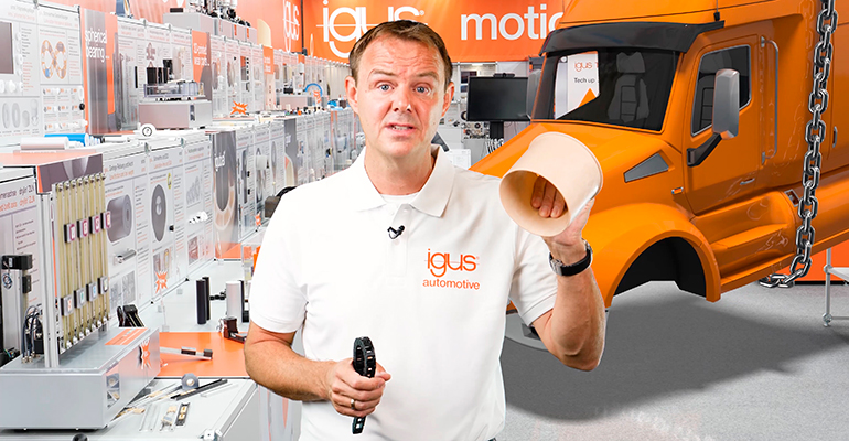 Igus presenta los nuevos productos de vehículos utilitarios de la IAA en un show en vivo