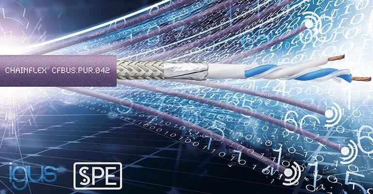 Menor tamaño y mayor calidad: cable Ethernet de par único para cadenas portacables