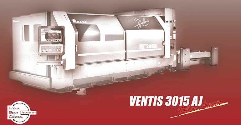 Ventis de Amada es la primera máquina de corte por láser de fibra con tecnología LBC para el procesamiento de acero inoxidable y aluminio