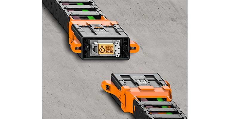 El nuevo adaptador de Igus reduce el tiempo de montaje de las cadenas portacables en un 80%