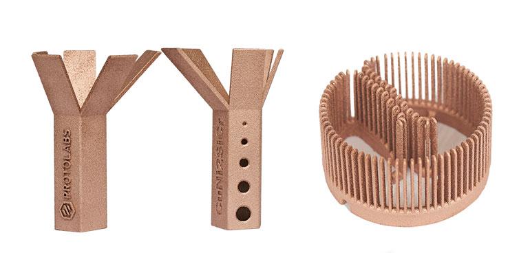 Protolabs lanza el servicio de impresión 3D de cobre para hacer realidad geometrías imposibles