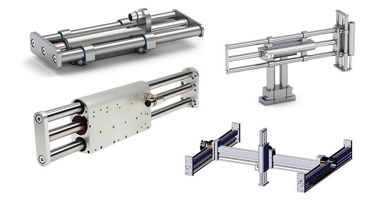 Los nuevos elementos de construcción inteligentes en acero inoxidable y compactos para movimientos lineales y de alta dinámica están disponibles en Larraioz Elektronika
