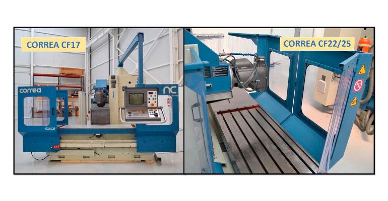 Dos fresadoras CNC de bancada fija, Correa CF 17 y CF 22/25, reconstruidas e instaladas en Alemania