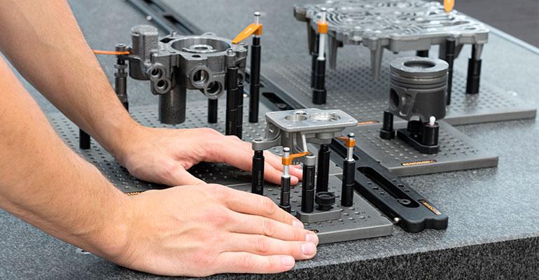El nuevo sistema de raíl QuickLoad aumenta la velocidad, la productividad y la precisión en la inspección de piezas