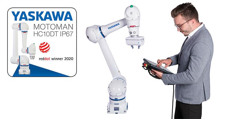 El robot colaborativo Motoman HC10DT IP67 gana el Red Dot Award 2020